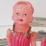 セルロイド人形カチューシャ3点セットヴィンテージ
