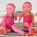 セルロイド人形カチューシャ2点セットヴィンテージ