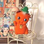 オレンジブタの貯金箱